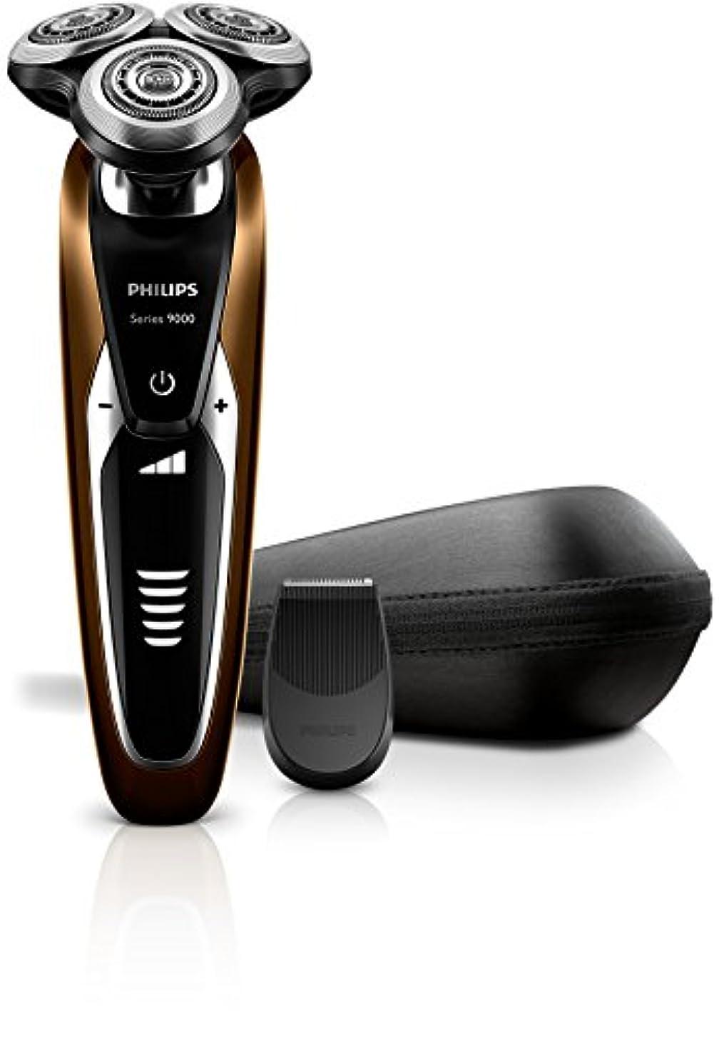 全員バックグラウンド小麦フィリップス 9000シリーズ メンズ 電気シェーバー 72枚刃 回転式 お風呂剃り & 丸洗い可 トリマー付 S9511/12
