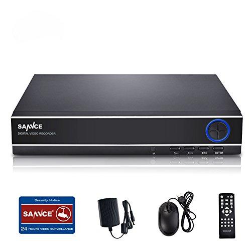 SANNCE(センス) 4CH防犯録画機 AHDデジタルレコーダー 720P DVR/NVR/HVR...