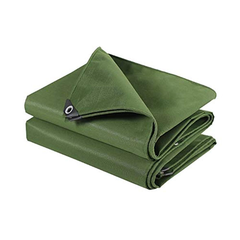 スクラップブック上昇実用的ZX タープ ターポリン 肥厚 耐摩耗性 防水 日焼け止め サンシェードアンチエイジング キャンバス テント アウトドア (色 : 緑, サイズ さいず : 2x2m)