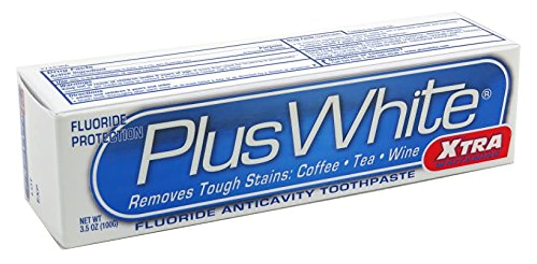 中庭とても多くの筋海外直送品Plus White Whitening Toothpaste, Extra Cool Mint 3.5 oz by Plus White
