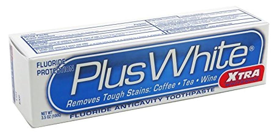 ナイロン不信アラビア語海外直送品Plus White Whitening Toothpaste, Extra Cool Mint 3.5 oz by Plus White