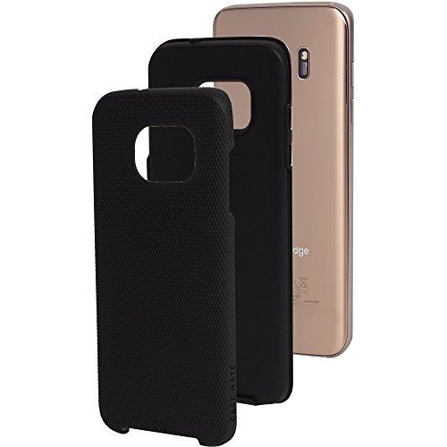 【耐衝撃タフネス】 Case-Mate 日本正規品 Galaxy S7 edge docomo SC-02H / KDDI au SCV33 対応 ハイブリッド タフ ケース, ブラック / ブラック Hybrid Tough Case, Black / Black 【デュアルレイヤー】 [Designed for SAMSUNG mobile] CM034008