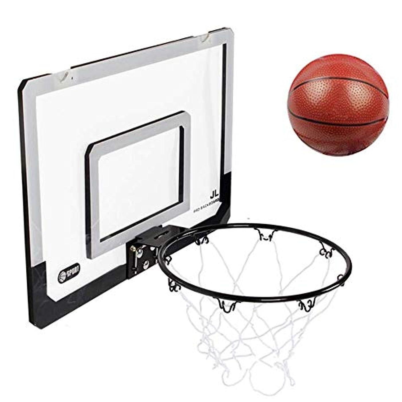 休暇説得悲しむハンギングバスケットボールボードバスケットボールネットセットキッズバスケットボールフープ付きボールチャイルドスポーツゲームプレイセット45.5x29.5cm