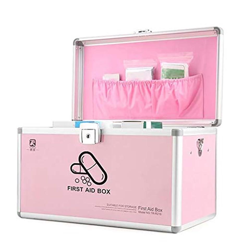 数旧正月貫入アルミ合金の携帯用救急箱、ロックできる、保証ロックの薬の収納箱、救急箱。 (S/M/L/XL)