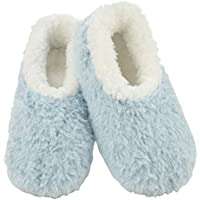 Snoozies Butter Fur Slumbies Slippers | Womens Slippers | Womens House Shoes | Light Blue | Large