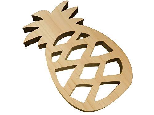 (アンドラキ) AndLaki 鍋敷き おしゃれ 木製 木 パイナップル 国産天然ひのき 日本製 (ナチュラル, 大)