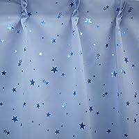 1級遮光カーテン プラネット ライトブルー 幅100cm×丈200cm 2枚入 全2色8サイズ