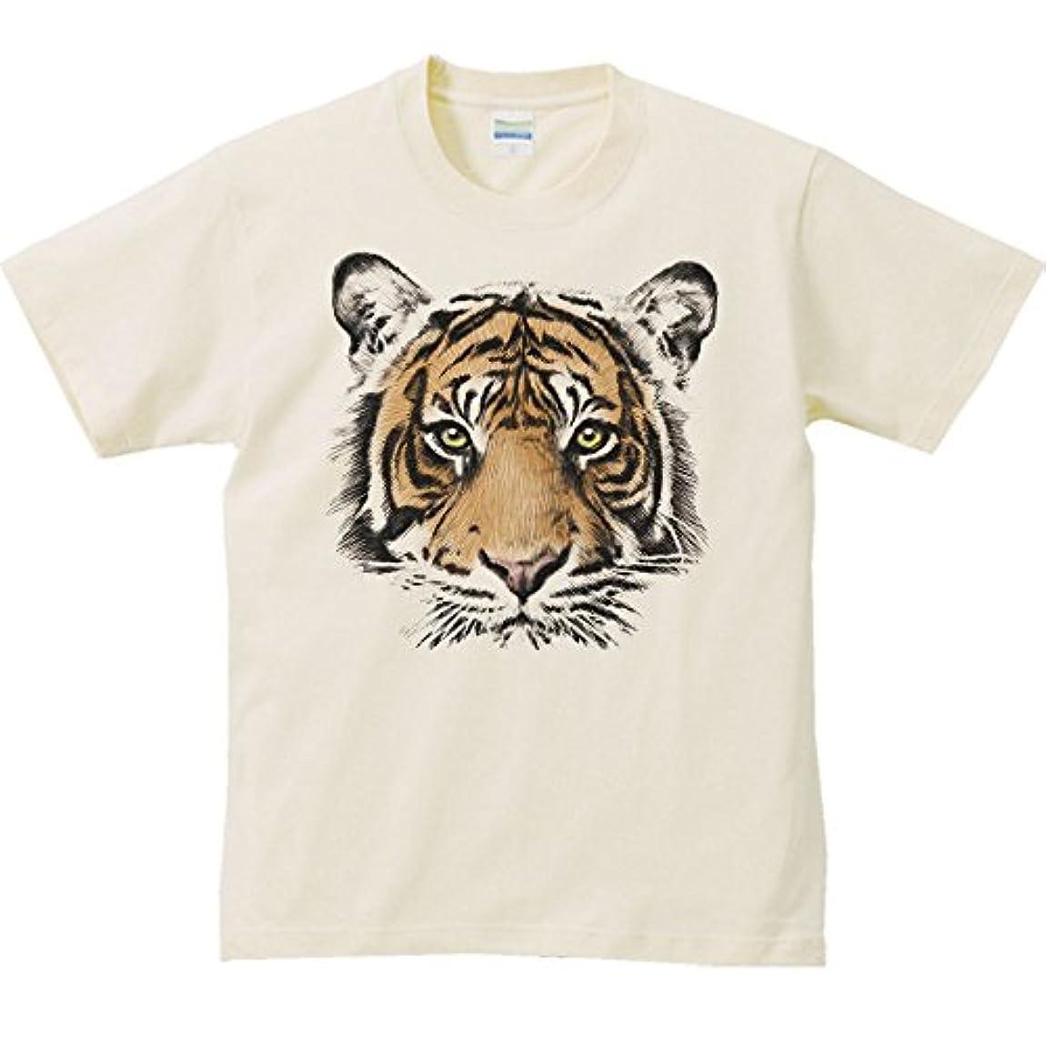 従来の円周問い合わせるエムワイディエス(MYDS) 虎の顔/半袖Tシャツ