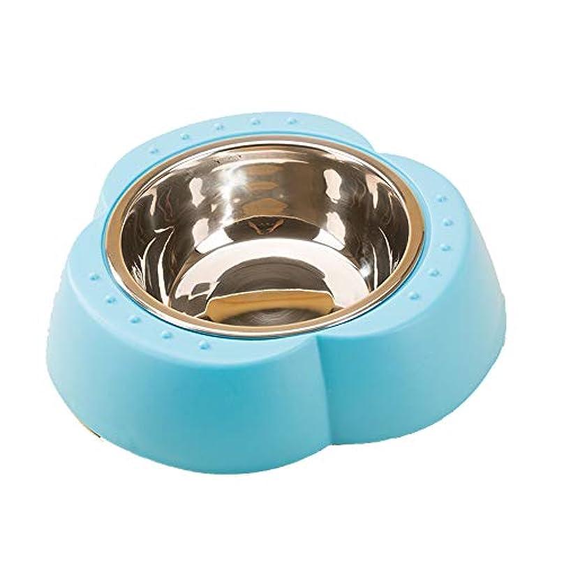 ミニ嫌いアンティークペットボウル、ステンレススチールクローバー犬のボウル滑り止め犬のカトラリー猫のボウル食品ボウルプレートペット用品