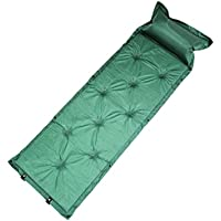 キャンピングマット 寝袋マット エアマット 3cm シングルサイズ 自動膨張式 マット マットレス 車中泊マット エアーマット キャンプマット インフレータブル (グリーン)