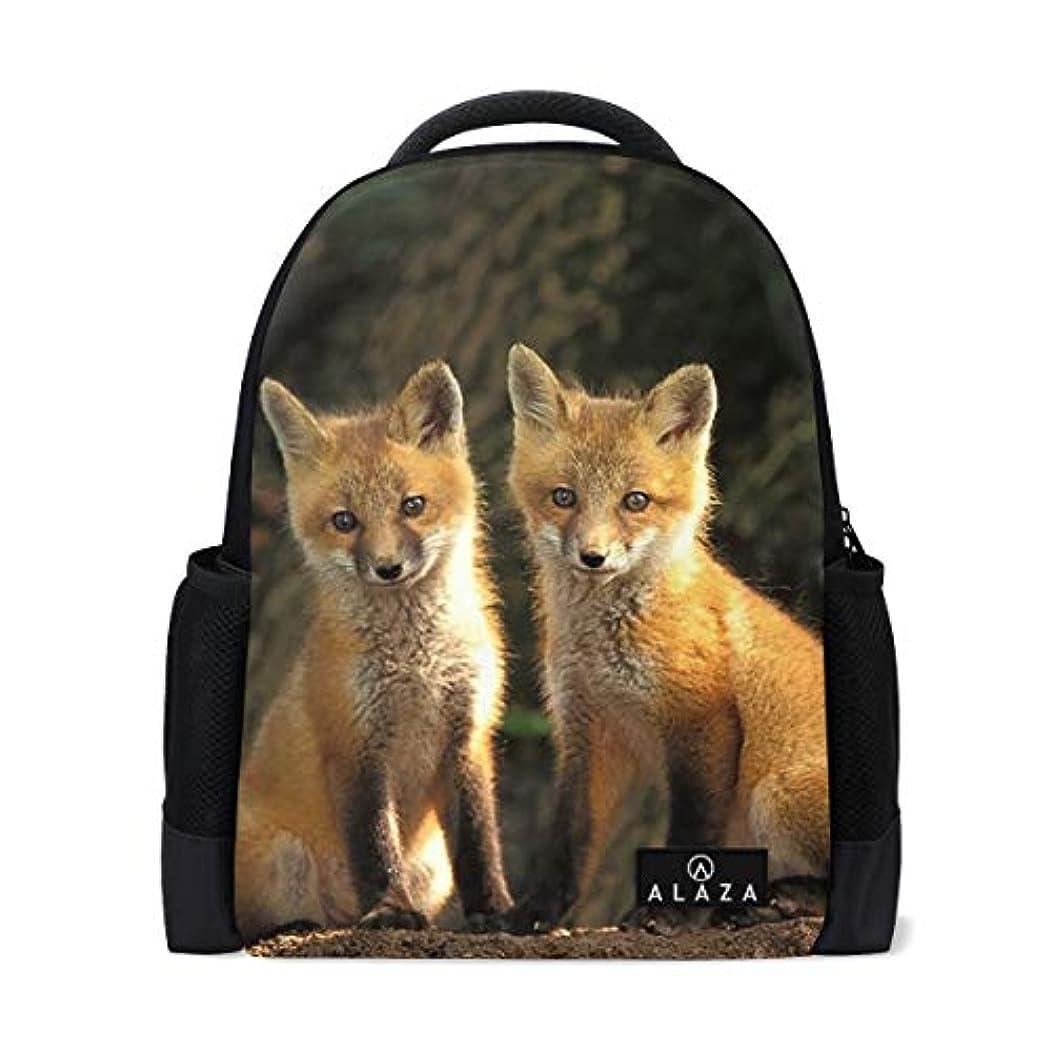 エコークリエイティブマネージャー狐二匹 動物保護 リュック レディース 軽量 リュックサック ショルダー バックパック パソコン収納 デイリーリュック おしゃれ 個性 小物収納 多機能 通勤 通学 旅行 ハイキング アウトドア 人気柄