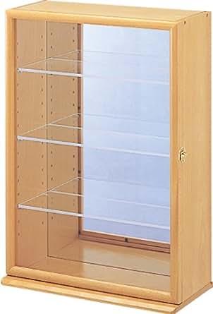 コレクションケース プラス 透明アクリル棚板タイプ ナチュラル木目