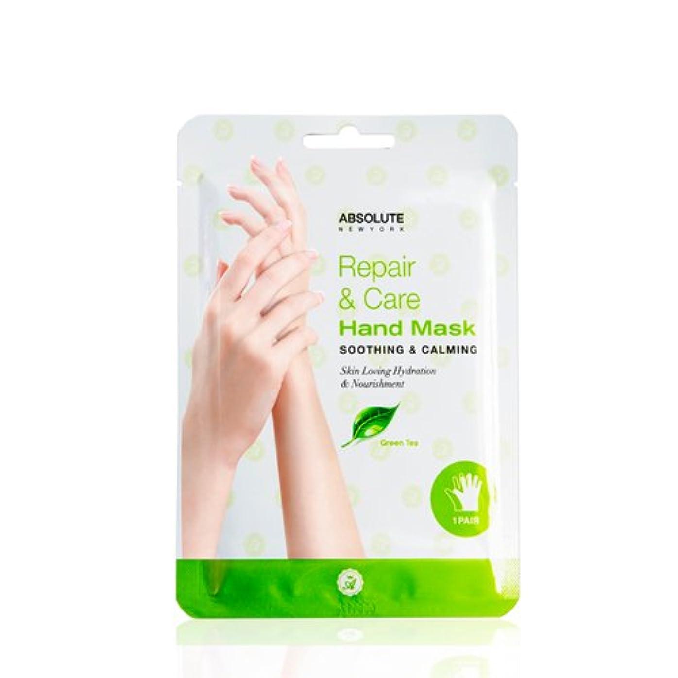 酔う特異性複雑な(6 Pack) Absolute Repair & Care Hand Mask - Green Tea (並行輸入品)