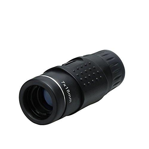 Landnics 望遠鏡 単眼鏡 7X18倍 ミニ単眼鏡 高倍率 防水 防塵 耐衝撃 キャンプ/ハンティング/旅行/スポーツイベント/観戦/野鳥観察やライブに最適