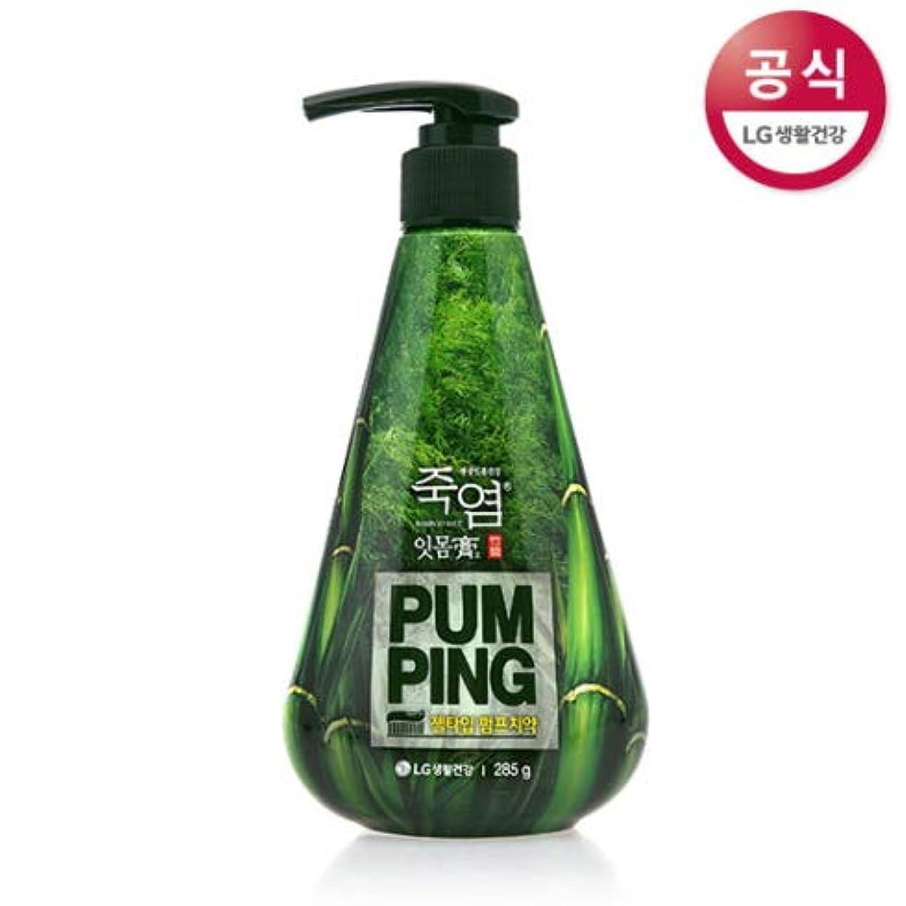 刃パースブラックボロウ統治する[LG HnB] Bamboo salt gum and pumped toothpaste/竹塩ガムとポンピング歯磨き粉 285gx1個(海外直送品)