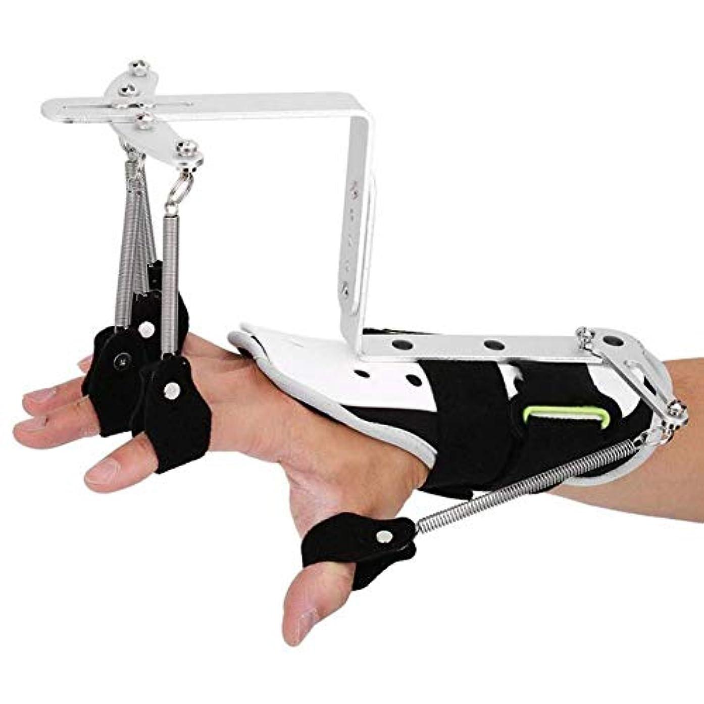 傀儡圧倒的ディプロマ指の怪我のサポート、関節炎用の中立2本指片麻痺リハビリテーション機器用の指副木