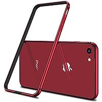 【CASEKOO】iPhone8ケース / iPhone7ケース,アルミバンパー (iPhone8 / iPhone7 ,レッド)