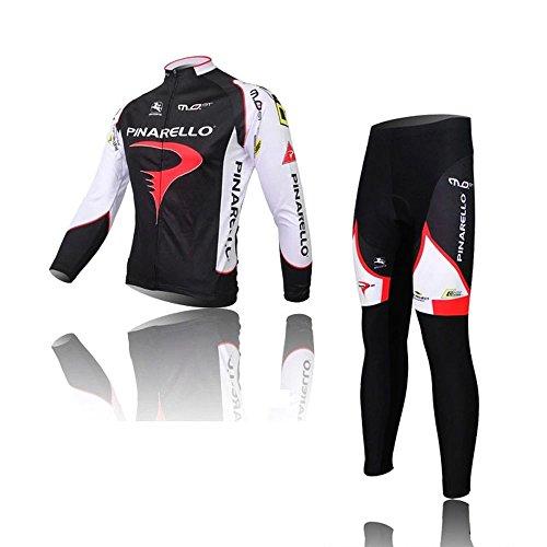 サイクルジャージ 5D立体デザイン 吸汗速乾 上下セット 長袖 おしゃれ メンズ サイクルウェア 男性 上下サイズ選択可