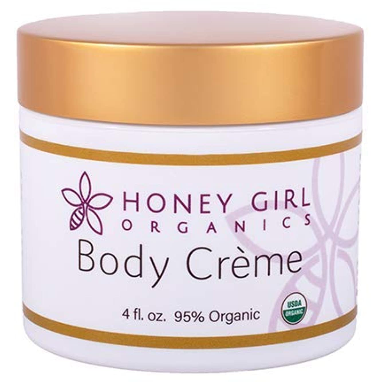 表面暖かさ渦Honey girl Organics ボディクリーム 4oz(120ml)
