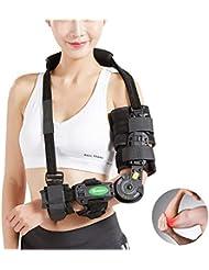 調整可能なアームスリングヒンジ付き肘ブレースサポート、術前?術後支援サポート&骨折した腕の上昇、外傷回復、腕固定ワンサイズ - ユニセックス