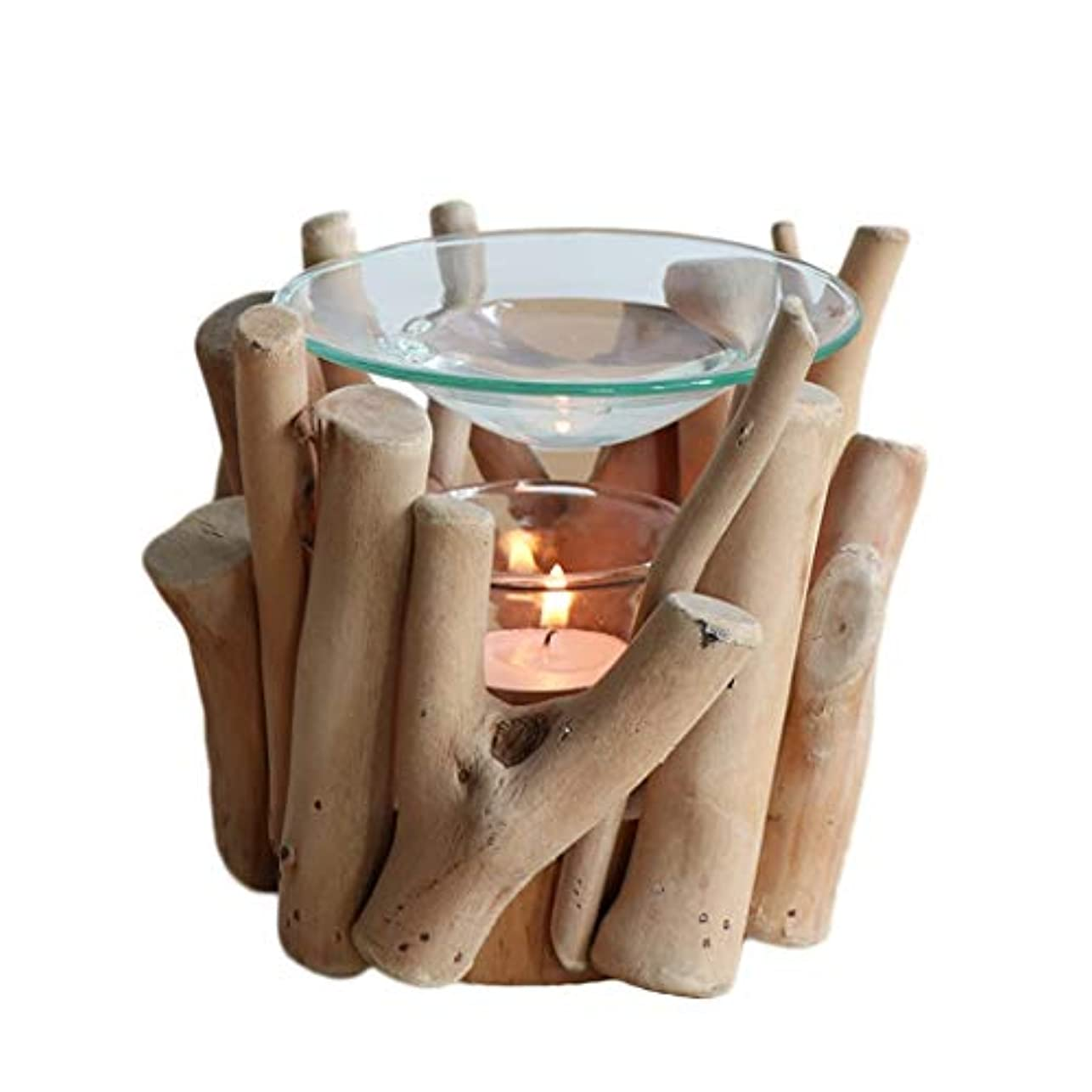 気を散らす金属慎重に家庭用木材香ホルダーエッセンシャルオイルアロマ燭台香バーナー寝室アロマセラピー炉香バーナーホルダー (Color : A)