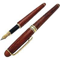 MAJESTIC 高級 万年筆 天然 木製 ウッド 木の香り 母の日 父の日 贈り物 (ローズウッド)