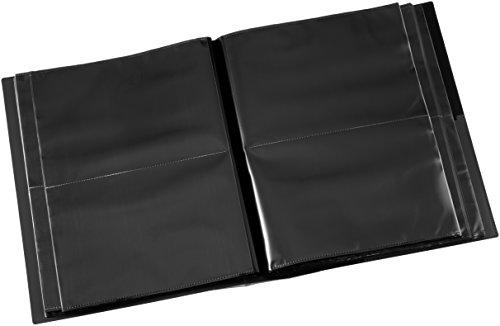 ナカバヤシ ファイル アルバム フォトグラフィリア 2L判 200枚収納 2段ポケット ブラック PH2L-1020-D