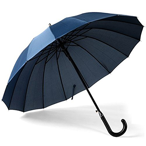 (アドンルル)adunlulu長傘 大きな傘 自動開けステッキ傘 紳士傘 耐風傘 撥水加工 梅雨対策 ブラック 120センチ green