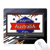 オーストラリアの建国記念日はエミューと星のイラスト ノンスリップラバーマウスパッドはコンピュータゲームのオフィス