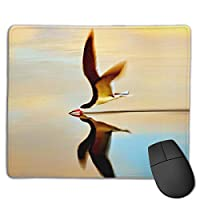 Cheng xiao Mouse Pad Beautiful Bird Photography Pattern Rectangle Rubber Mousepad Non-toxic Print Gaming Mouse Pad with Black Lock Edge,9.8 * 11.8 in,ベーシック マウスパッド ゲーム用 標準サイズ