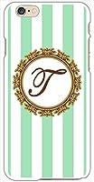 sslink iPhone6 Plus 5.5インチ ハードケース ボーダーE-イニシャルT ボーダー イニシャル ロゴ エンブレム スマホ ケース スマートフォン カバー カスタム ジャケット softbank au docomo