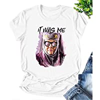 AEURPLT Tell Cersei It was Me Olenna Tyrell Shirt Game Thrones T Shirt Graphic Summer Tops Tees Gifts