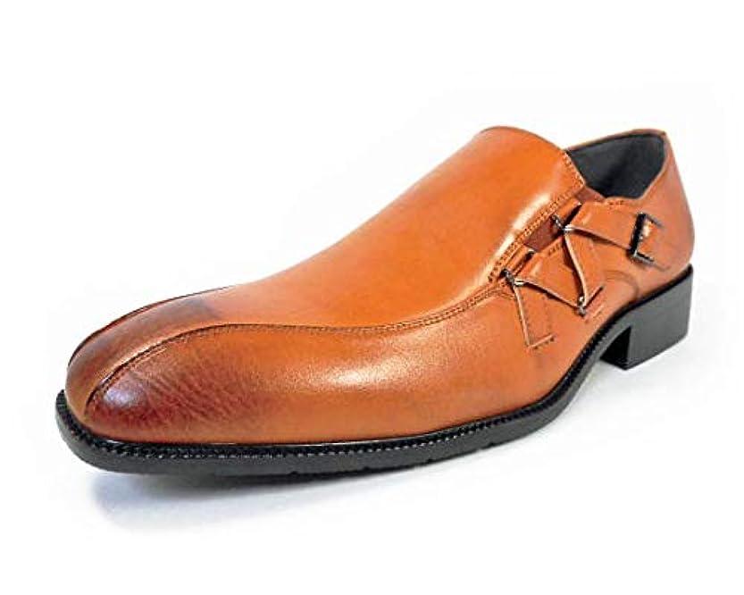 気をつけて満員ハードリング[エスメイク]S-MAKE ストラップスリッポン ビジネスシューズ 茶色 ワイズ3E 27.5cm、28cm(28.0cm)29cm(29.0cm)30cm(30.0cm)【大きいサイズ(ビッグサイズ)紳士靴】