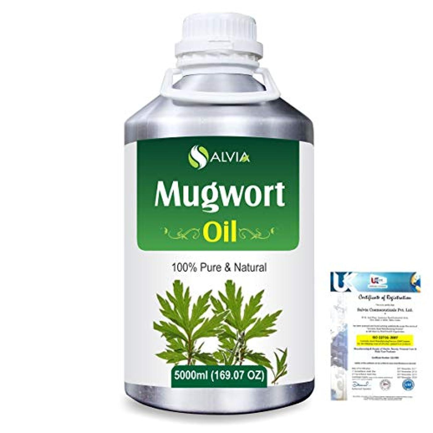 抑止する扱いやすい見捨てるMugwort (Artemisia vulgaris) 100% Natural Pure Essential Oil 5000ml/169fl.oz.