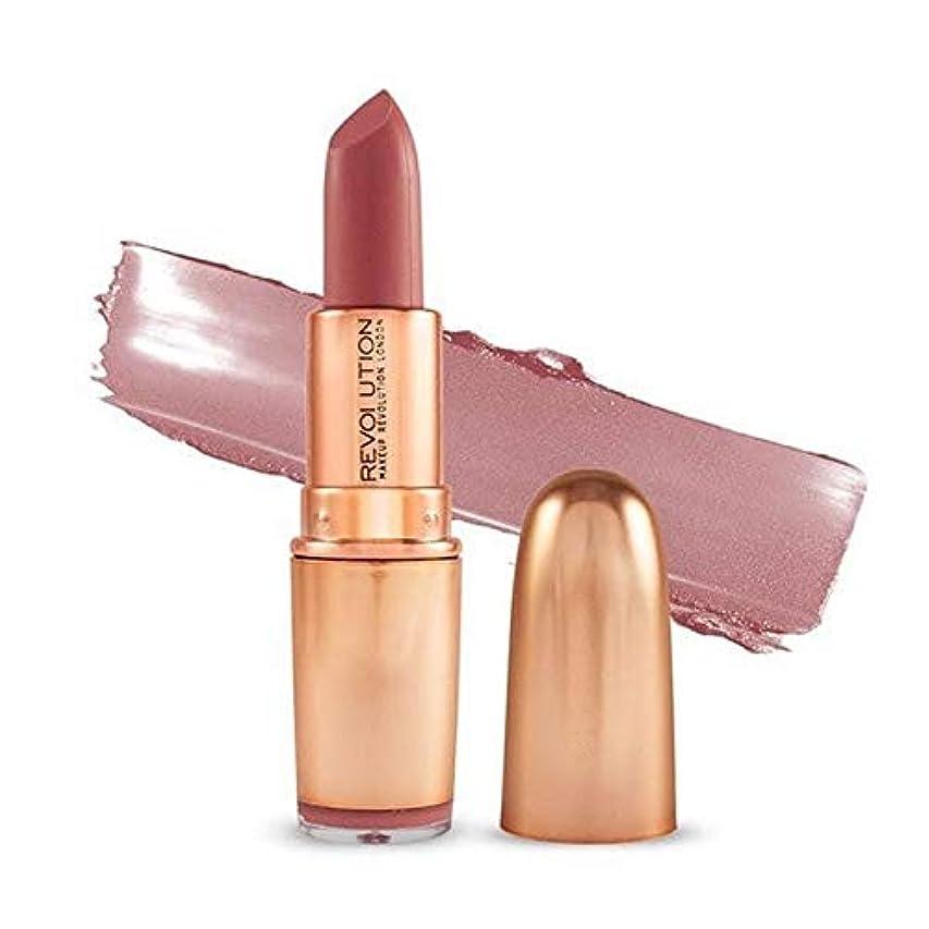 分類冷笑するまあ[Revolution ] 革命の象徴的なマットヌード口紅の欲望 - Revolution Iconic Matte Nude Lipstick Lust [並行輸入品]