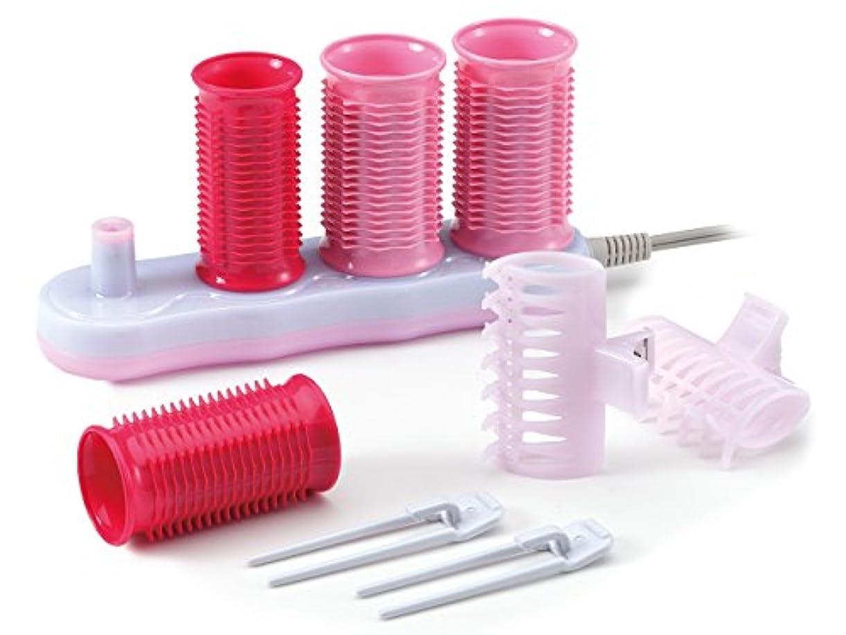 ランドリーびっくり歯科のコイズミ ヘアカーラー 4本入り 海外対応 ピンク KHC-V400/P