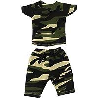 Dovewill 14.5インチ アメリカンガールドール適用 素敵 半袖 Tシャツ パンツ 人形 衣装