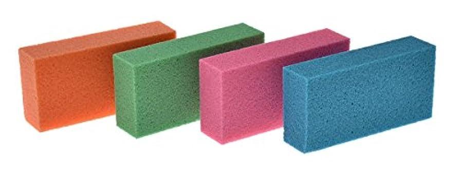 緊張する断片研磨剤リマーク(Remark) 目詰まりしない〔ドイツの軽石〕 4色組 5×10×2.5cm