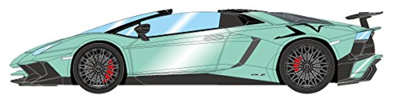 EIDOLON 1/43 ランボルギーニ アヴェンタドール LP750-4 SV ロードスター 2015 ミントグリーン ラージオレンジSVロゴ 完成品