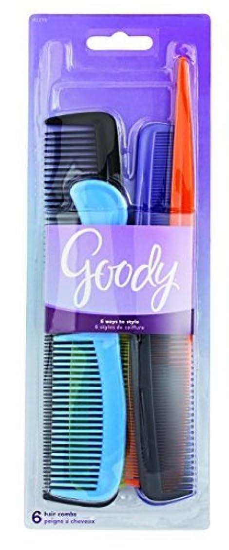満足させるゴールアプライアンスGoody Styling Essentials Hair Comb 6 On, Family Pack, 1.357 Ounce (Pack of 3) [並行輸入品]