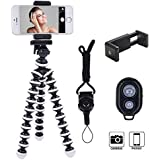 Ibeston Phone Tripod, Ibeston Octopus Tripod for iPhone/Universal Smartphone/Camera Arbitrary Installed with Remote Control, (Ibeston)