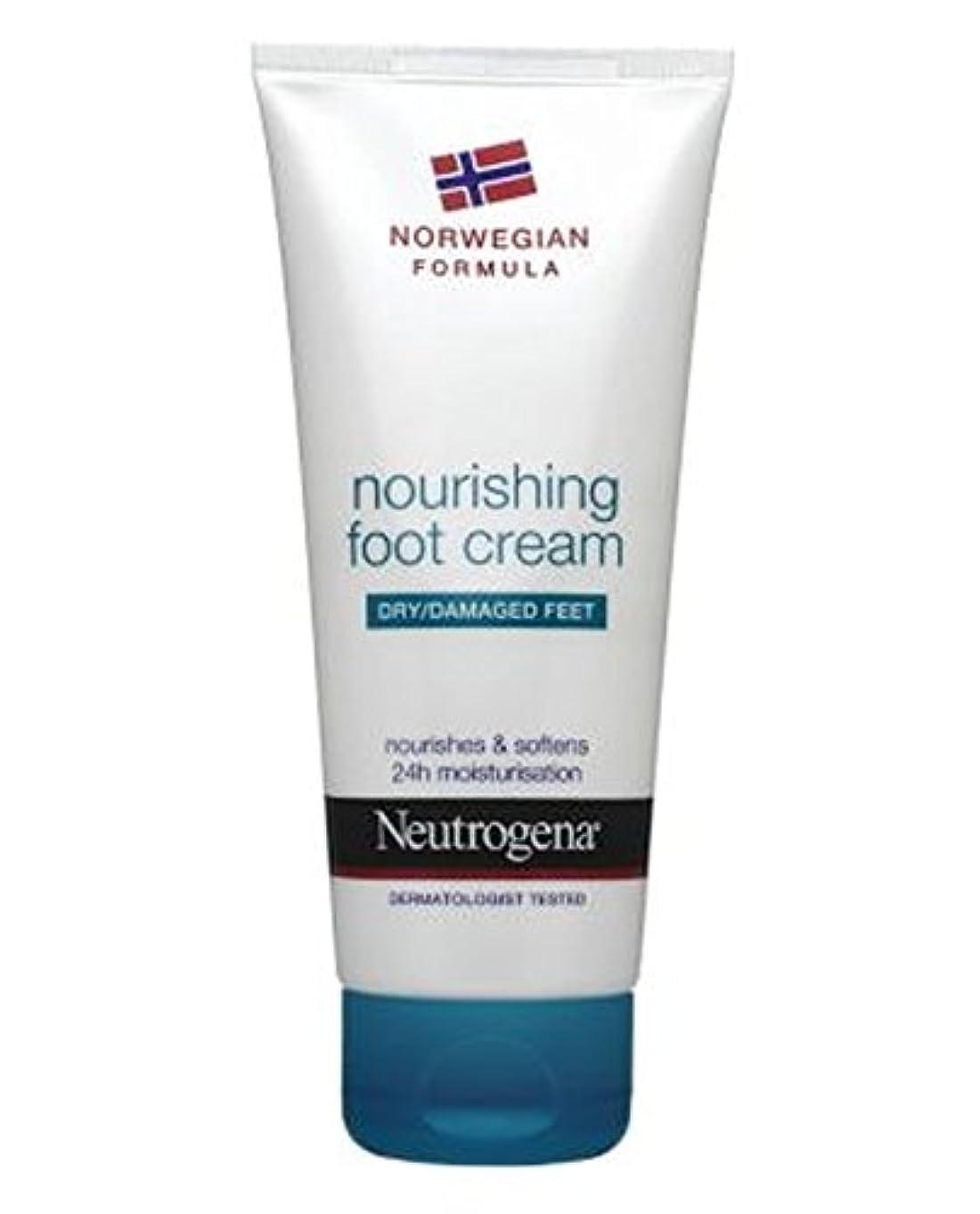 白鳥ディプロマ漏斗Neutrogena Norwegian Formula Nourishing Foot Cream For Dry Or Damaged Feet 100ml - 100ミリリットル乾燥または損傷した足のためのニュートロジーナノルウェー...