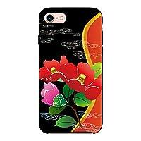 (カリーナ) Carine isai LGL22 薄型 ブラック スマホケース スマホカバー sc073(D) 和花 花 フラワー イサイ スマートフォン スマートホン 携帯 ケース イサイ ハード プラ スマフォ カバー