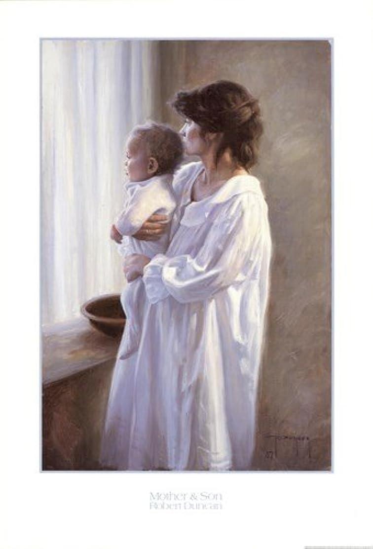 好き消防士実際の母と息子by Robert Duncan – 24.5 X 36インチ – アートプリントポスター LE_399103