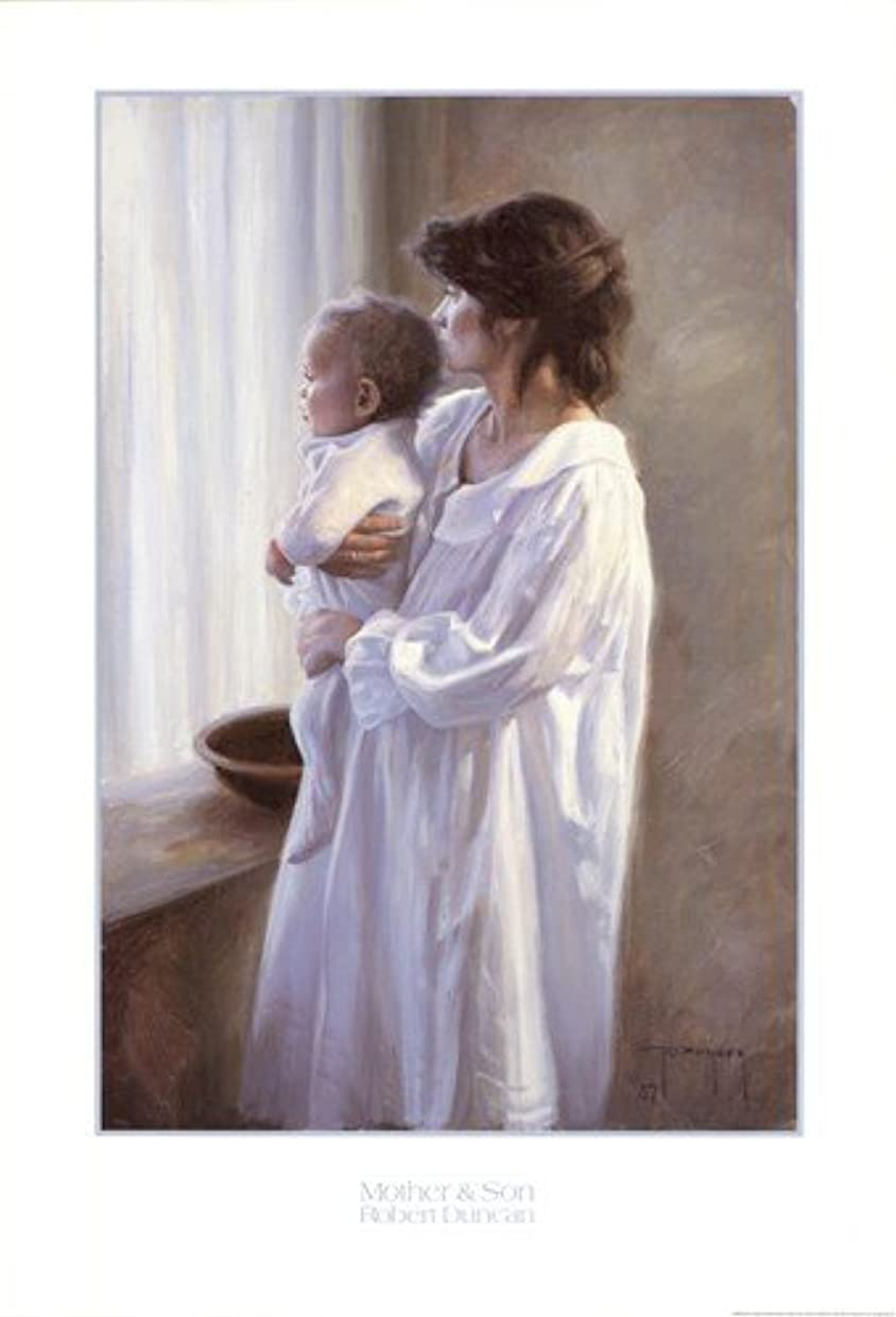 普通に勝つ臨検母と息子by Robert Duncan – 24.5 X 36インチ – アートプリントポスター LE_399103