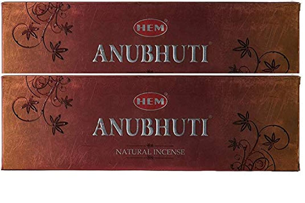 野生正規化近所のHem Anubhuti Natural Incense Sticks (23.6 cm x 7.6 cm x 2 cm, Brown, Pack of 2)