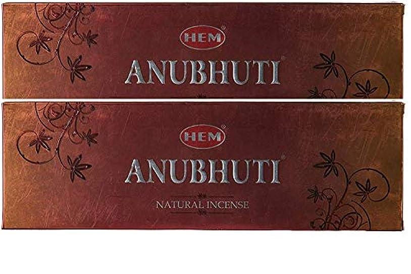 ダッシュジュニア重くするHem Anubhuti Natural Incense Sticks (23.6 cm x 7.6 cm x 2 cm, Brown, Pack of 2)