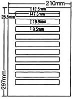 SCJ-16-2 OAラベル プリンタ用光沢タイプラベル (147.3×16.9mm 10面付け A4判) 2梱(カラーインクジェットプリンタ用光沢タイプ...