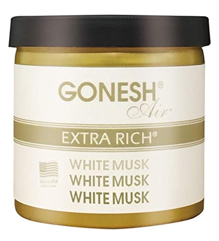 いちゃつく期限能力GONESH ゲルエアフレシュナー ホワイトムスク
