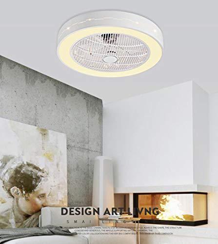 シーリングファンライトマイナスイオンミュート円形1天井ファンLEDトリコロール照明付きリモコン(D)